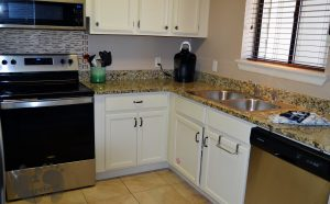 Granite and Stainless Appliances